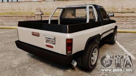 Declasse Rancher 1998 para GTA 4 Vista posterior izquierda