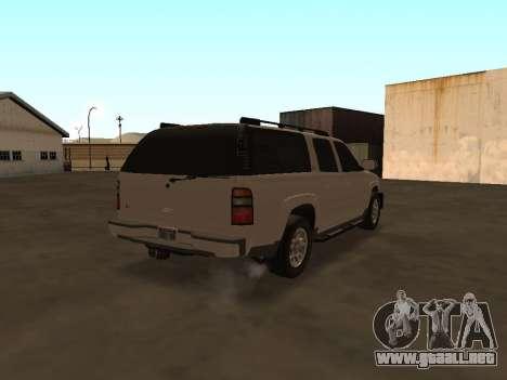 Chevrolet Suburban ATTF para la visión correcta GTA San Andreas