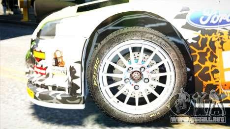 Ford Focus RS Monster World Rally Team WRC para GTA 4 visión correcta