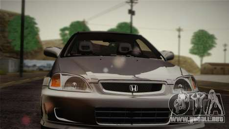 Honda Civic Si 1999 Coupe para visión interna GTA San Andreas