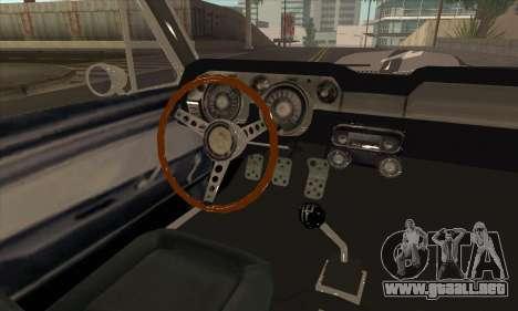 Shelby GT500 E v2.0 para GTA San Andreas vista hacia atrás
