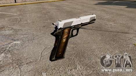 Pistola M1911 caballero para GTA 4 segundos de pantalla