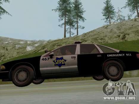Chevrolet Caprice SFPD 1991 para vista lateral GTA San Andreas