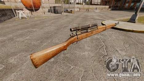 Rifle de francotirador Springfield M1903A1 para GTA 4 segundos de pantalla
