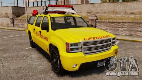 GTA V Declasse Granger 3500LX Lifeguard para GTA 4