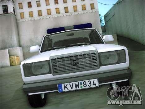 Rendőrség LADA 2107 para GTA San Andreas vista hacia atrás