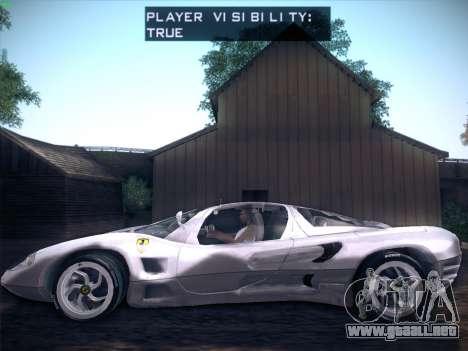 Ferrari P7 Chromo para GTA San Andreas vista hacia atrás