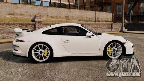 Porsche 911 GT3 (991) 2013 para GTA 4 left