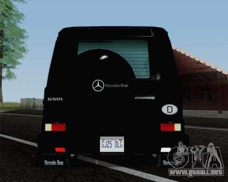Mercedes-Benz G500 1999 Short para GTA San Andreas vista hacia atrás