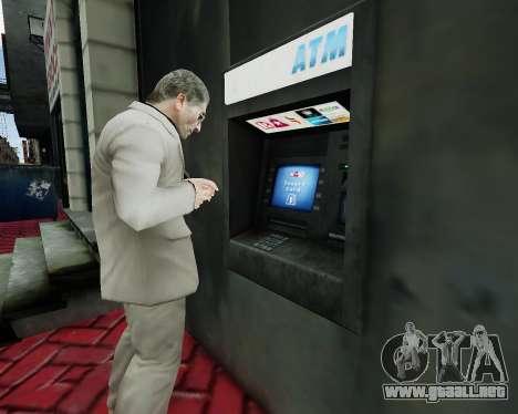 Cuenta en un cajero automático para GTA 4