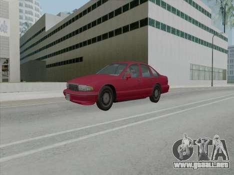 Chevrolet Caprice 1991 para GTA San Andreas vista posterior izquierda