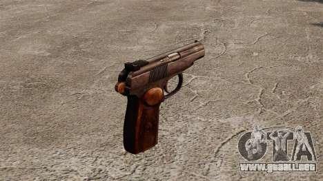 Pistola autocargable Makarova para GTA 4 segundos de pantalla