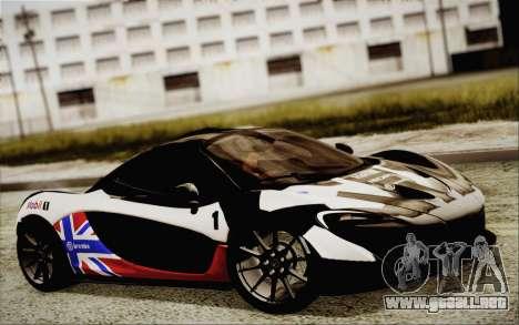 McLaren P1 2014 v2 para visión interna GTA San Andreas