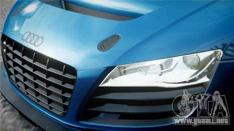 Audi R8 LMS para GTA 4 vista desde abajo