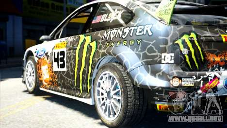 Ford Focus RS Monster World Rally Team WRC para GTA 4 left