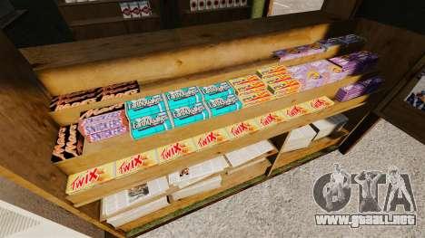 Nuevos productos en el quiosco del café para GTA 4 tercera pantalla