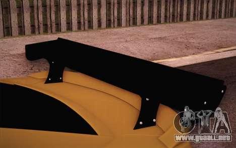 Chevrolet Camaro ZL1 para la vista superior GTA San Andreas