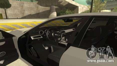 BMW M5 E60 para visión interna GTA San Andreas