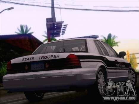 Ford Crown Victoria San Andreas State Trooper para vista inferior GTA San Andreas