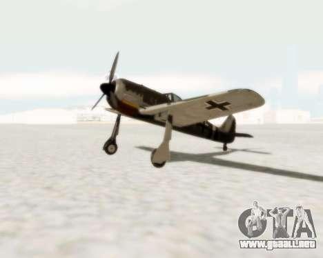 Focke-Wulf FW-190 A5 para GTA San Andreas left
