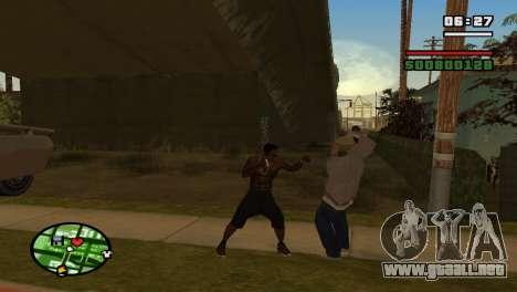 Brass Knuckles para GTA San Andreas sucesivamente de pantalla