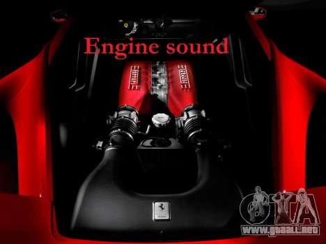 Sonido de un motor de Ferrari para GTA 4
