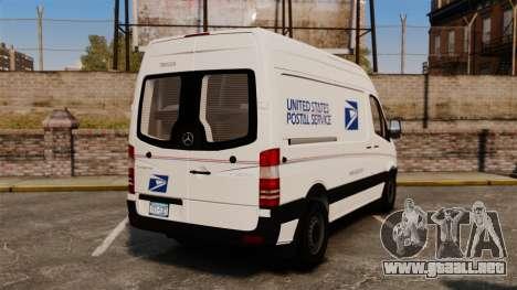 Mercedes-Benz Sprinter 2500 Delivery Van 2011 para GTA 4 Vista posterior izquierda