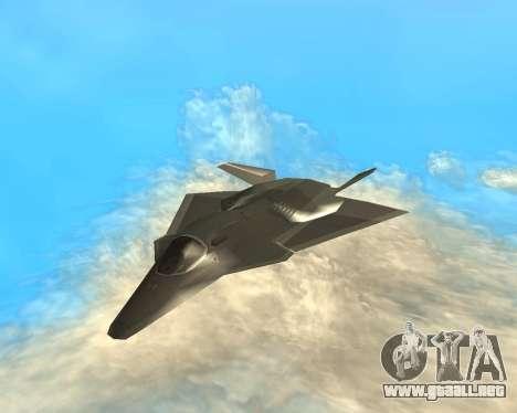 FA-37 Talon para GTA San Andreas vista hacia atrás