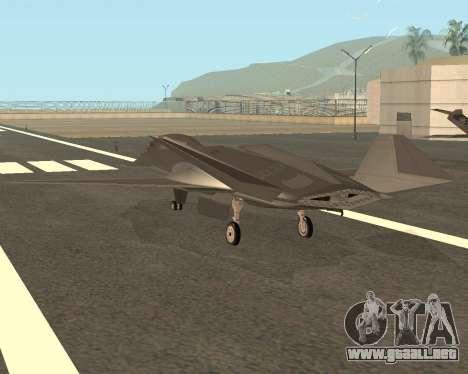 FA-37 Talon para GTA San Andreas vista posterior izquierda