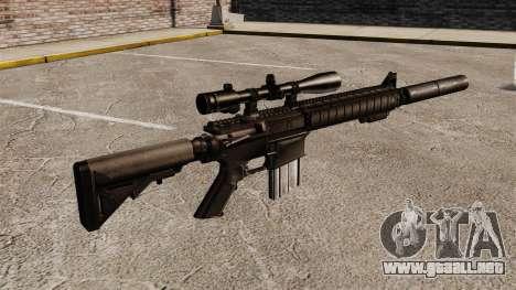 El rifle de francotirador SR-25 para GTA 4 segundos de pantalla