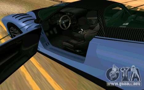 El guepardo de GTA 5 para GTA San Andreas vista posterior izquierda