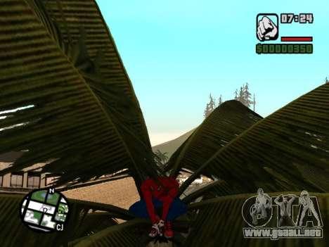 Se agacha como el asombroso Spider-man para GTA San Andreas sucesivamente de pantalla