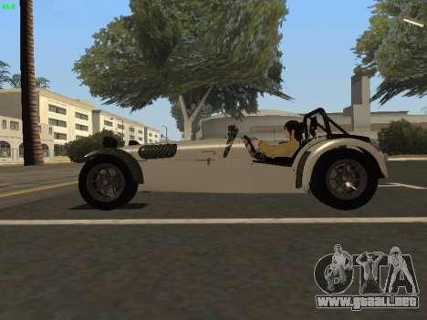 Caterham 7 Superlight R500 para GTA San Andreas left