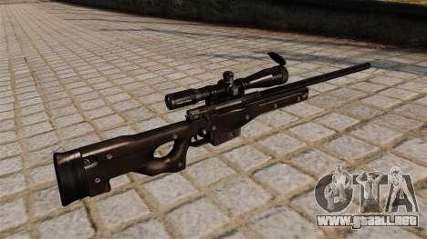Rifle de francotirador AI Arctic Warfare Magnum para GTA 4 segundos de pantalla