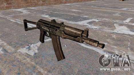 AKS74U automático negro para GTA 4