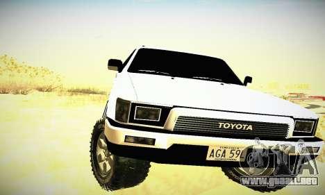Toyota 4Runner 1995 para visión interna GTA San Andreas