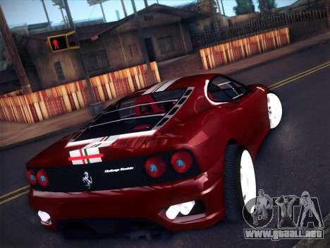 Ferrari 360 Challenge Stradale para GTA San Andreas vista posterior izquierda