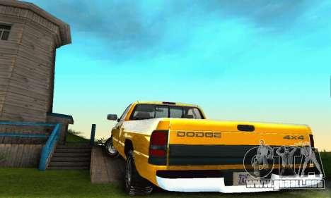 Dodge Ram 2500 para vista lateral GTA San Andreas