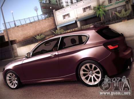 BMW M135i para GTA San Andreas left