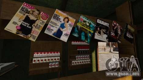 Nuevos productos en el quiosco del café para GTA 4 quinta pantalla