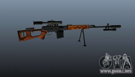Rifle de francotirador Dragunov A & K para GTA 4 tercera pantalla