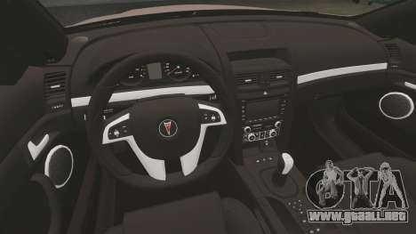 Pontiac G8 GXP [VE] 2009 para GTA 4 vista interior