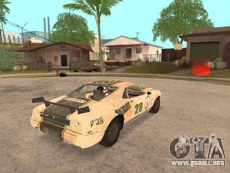 AMC Javelin AMX para GTA San Andreas vista posterior izquierda