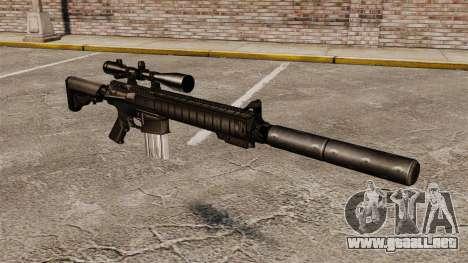 El rifle de francotirador SR-25 para GTA 4
