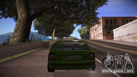 Skoda Fabia para GTA San Andreas vista posterior izquierda