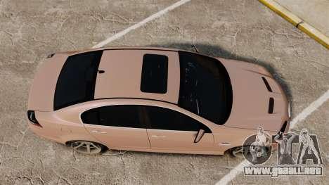 Pontiac G8 GXP [VE] 2009 para GTA 4 visión correcta