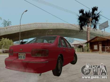 Chevrolet Caprice 1991 para vista inferior GTA San Andreas