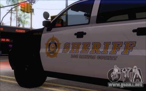 Un jeep de la policía de GTA V para GTA San Andreas vista posterior izquierda