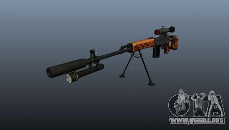 Rifle de francotirador Dragunov A & K para GTA 4