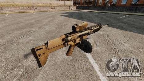 Rifle de asalto SCAR LMG para GTA 4 segundos de pantalla